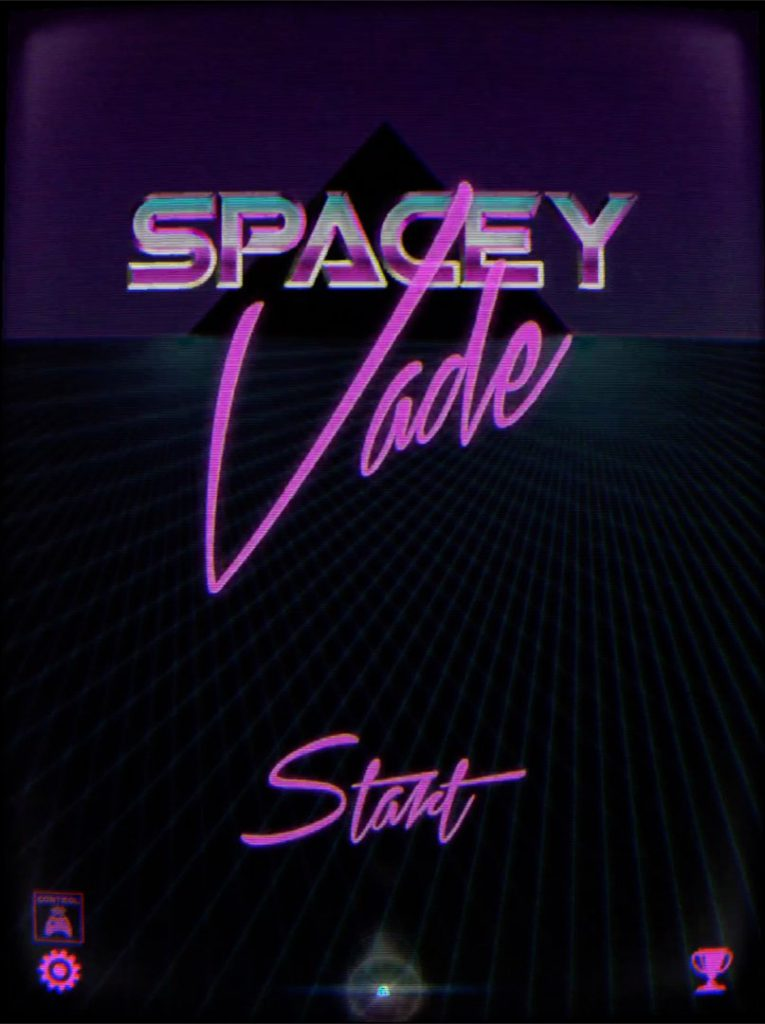 SpaceyVade Start Screen